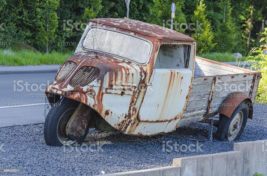 Truck, pickup, three-wheeler royalty-free stock photo