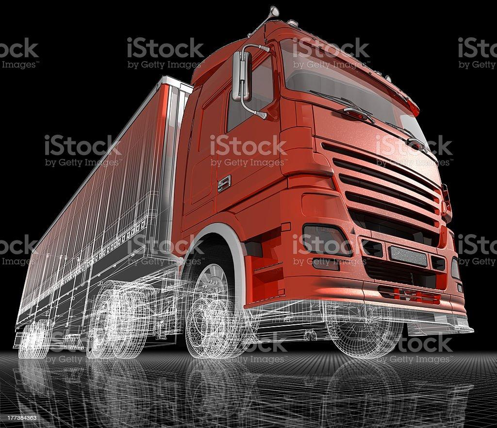 Truck. stock photo