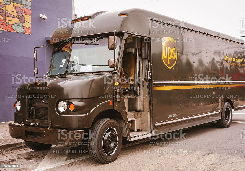 UPS truck royalty-free stock photo