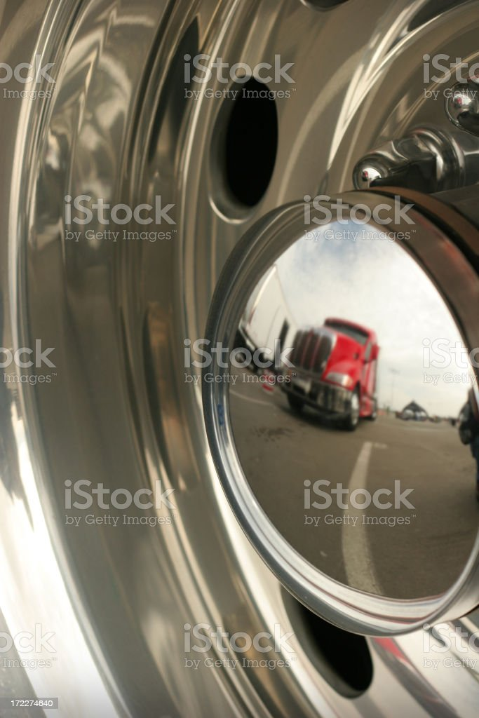 Truck Reflection In Chrome royalty-free stock photo