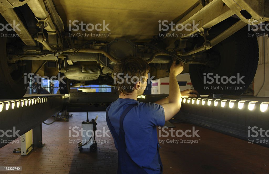 truck repair royalty-free stock photo