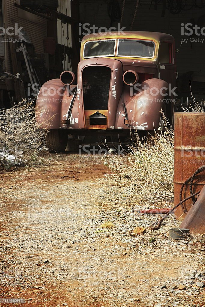 Truck Rustbucket Antique Car royalty-free stock photo