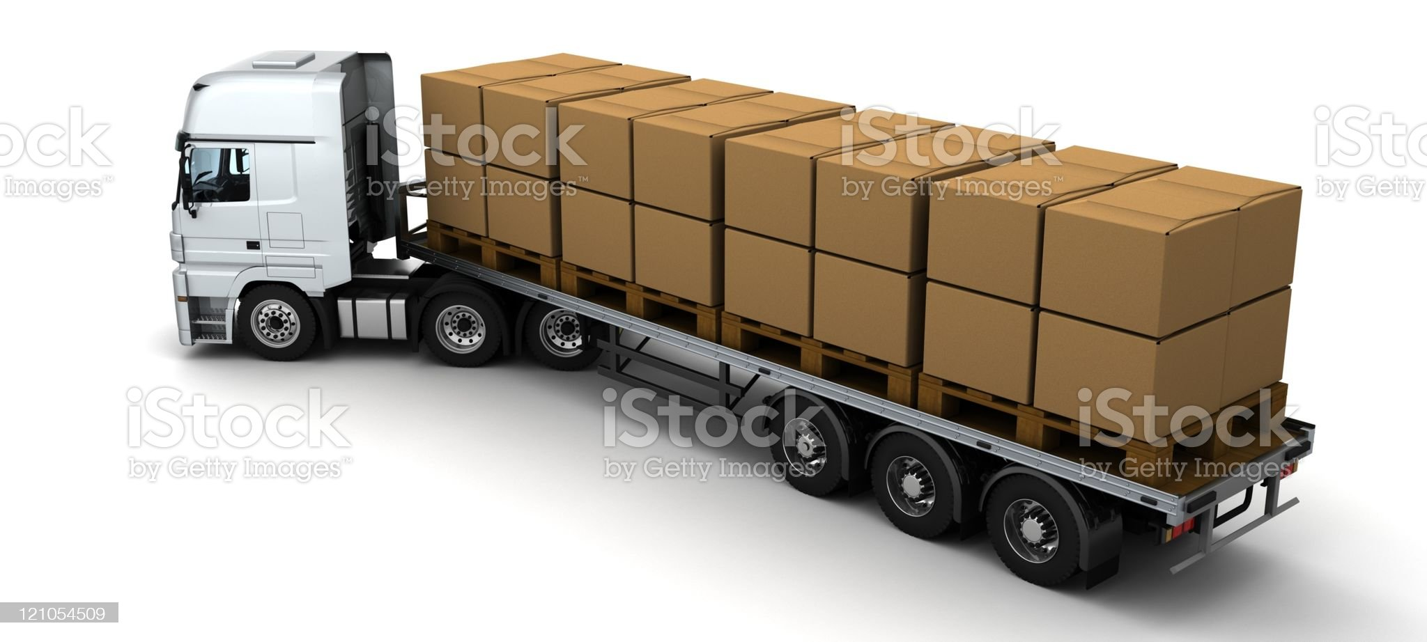 HGV Truck Shipping Cardboard Boxes royalty-free stock photo
