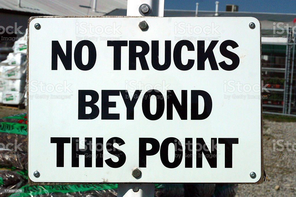 Truck Sign royalty-free stock photo