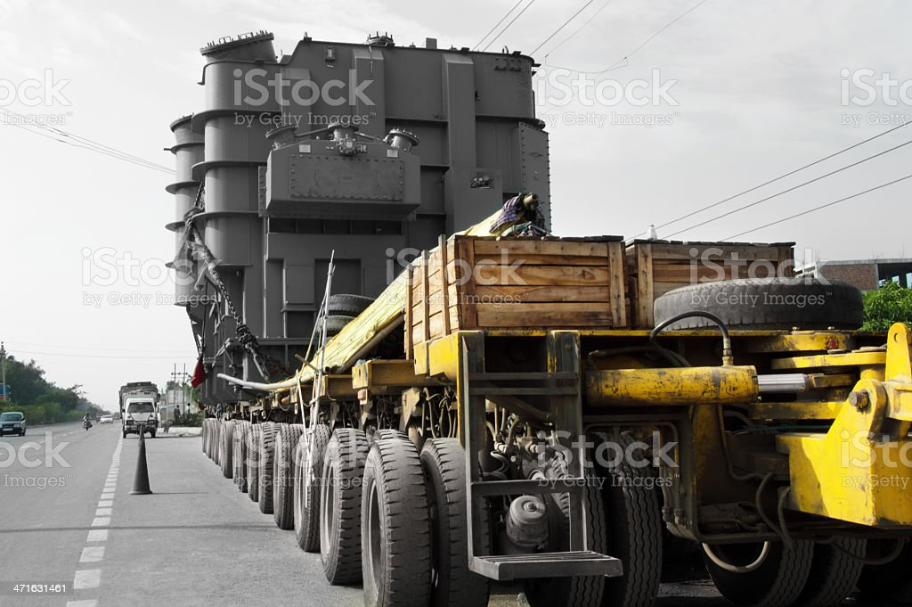Truck Standing Near Highway royalty-free stock photo