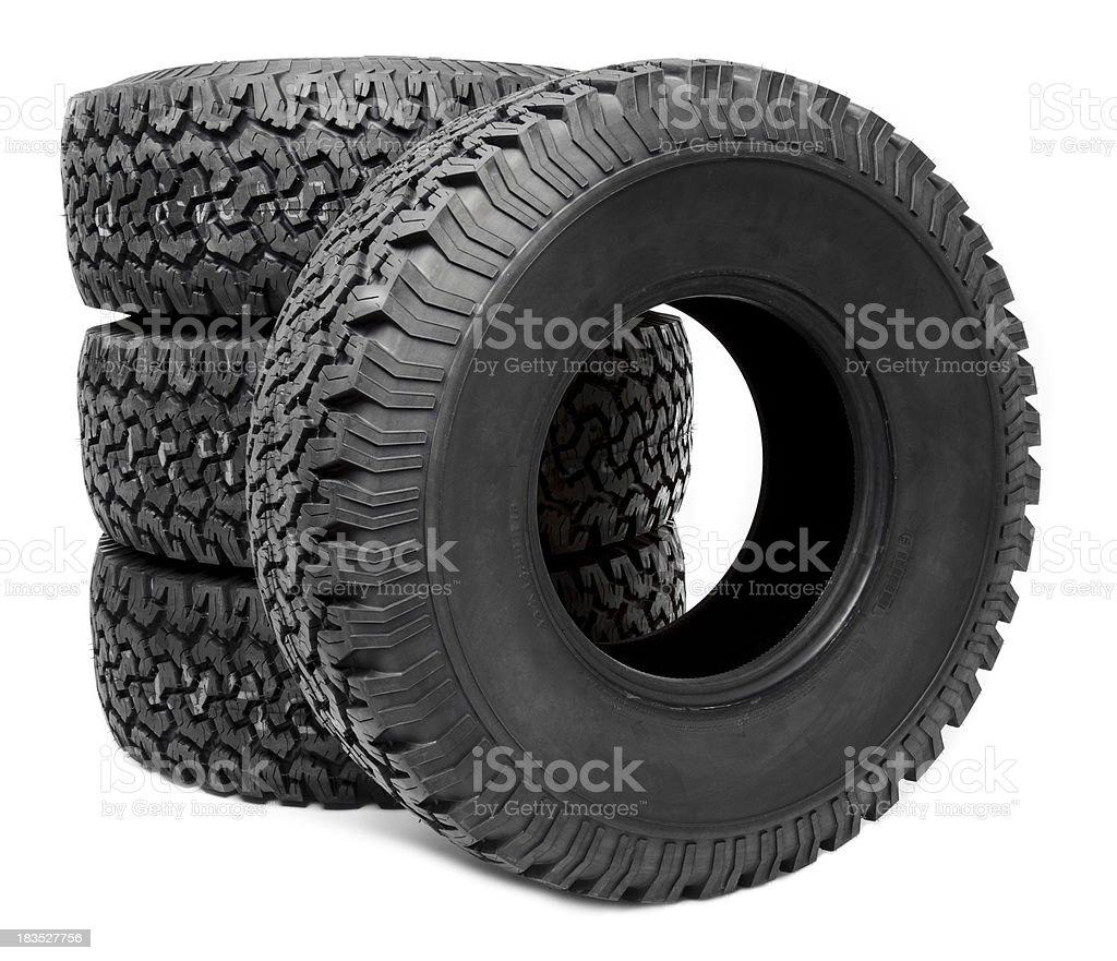 Truck Tire on white stock photo