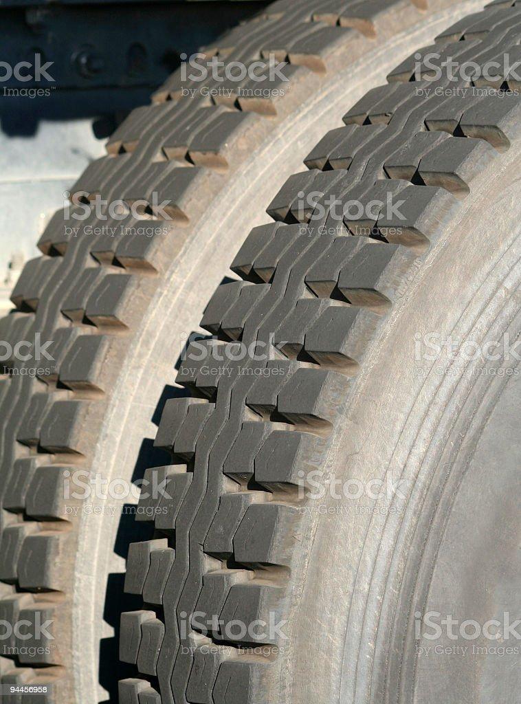 Truck Tire Tread stock photo