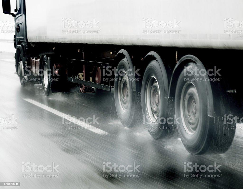Truck tires stock photo