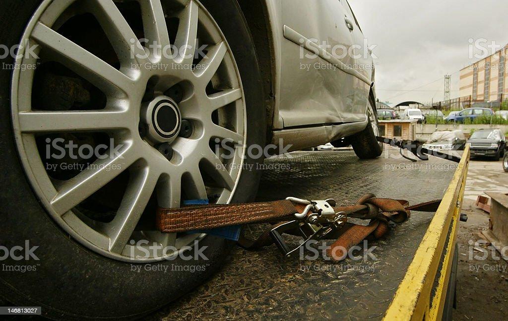 truck tow stock photo
