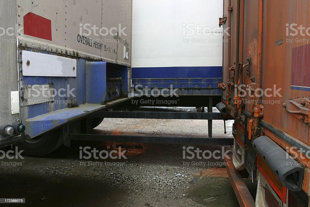 truck trailers royalty-free stock photo