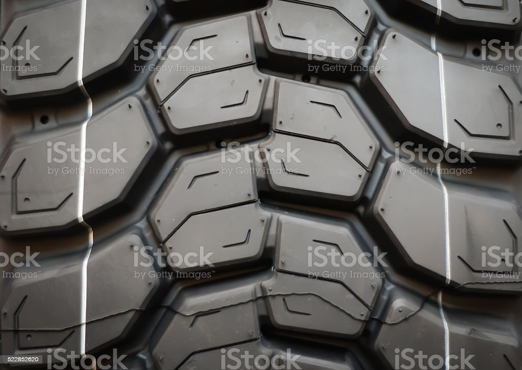 Truck tyre detail stock photo