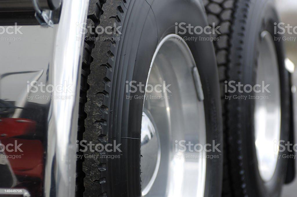 Truck Wheel stock photo