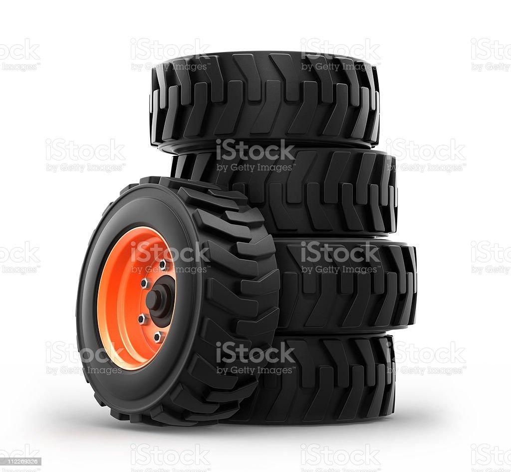 truck wheels stock photo