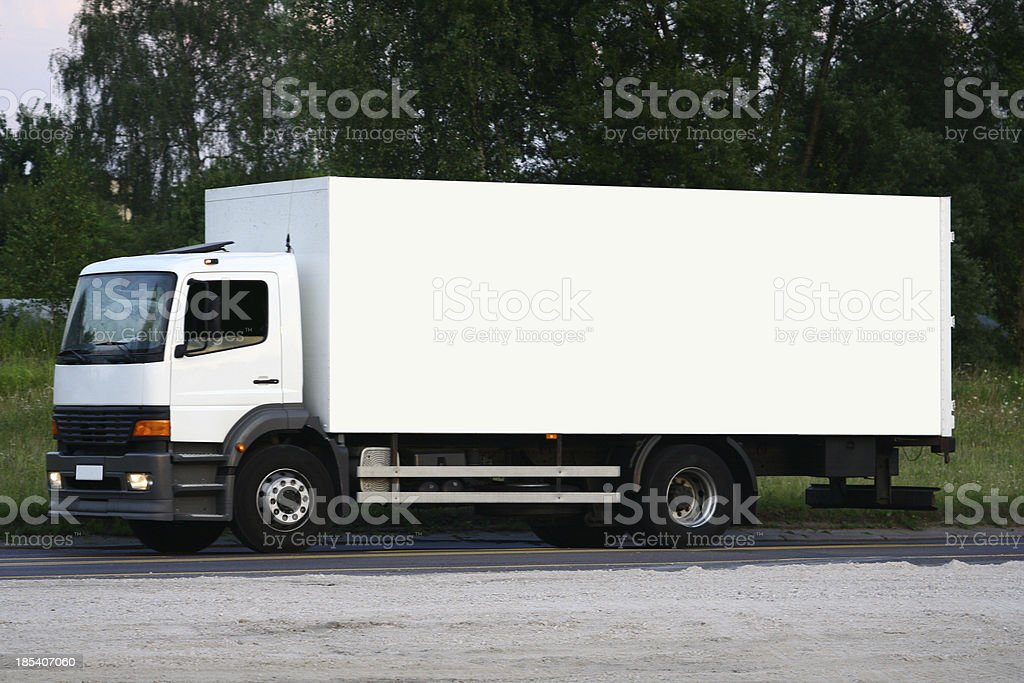 truck: white billboard royalty-free stock photo