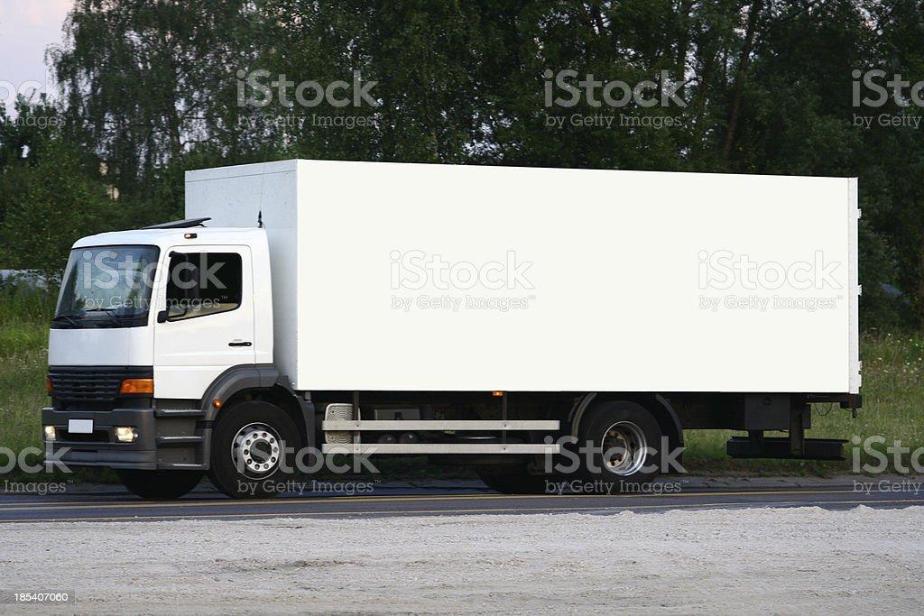 truck: white billboard stock photo