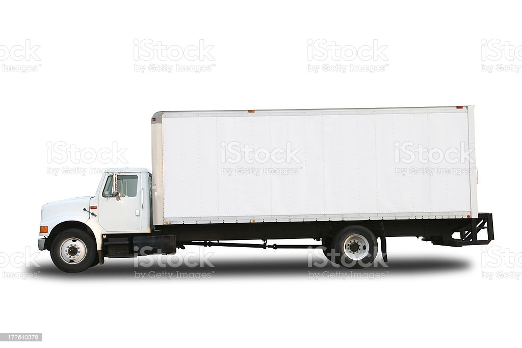 Truck - White Clipped Isolated royalty-free stock photo