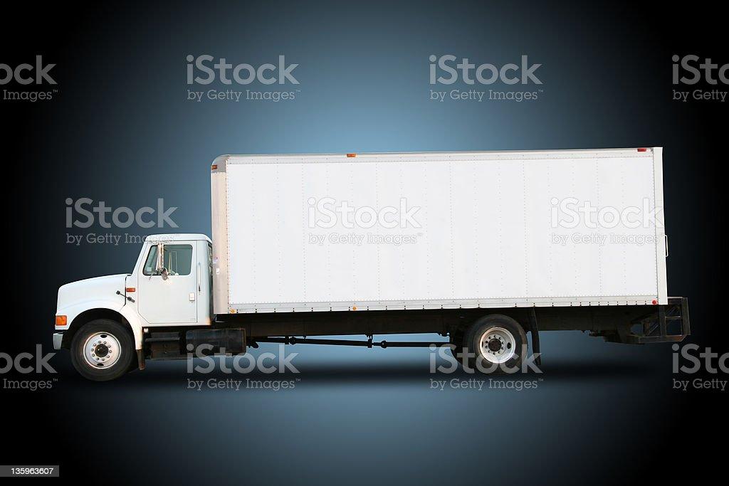Truck - White royalty-free stock photo