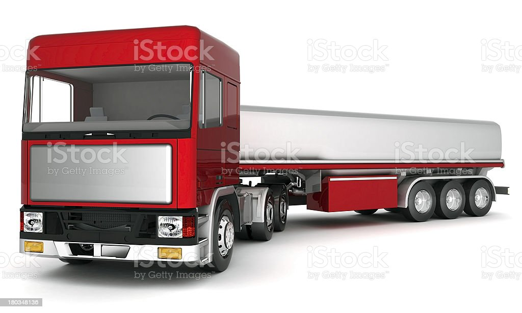 truck with cargo royalty-free stock photo