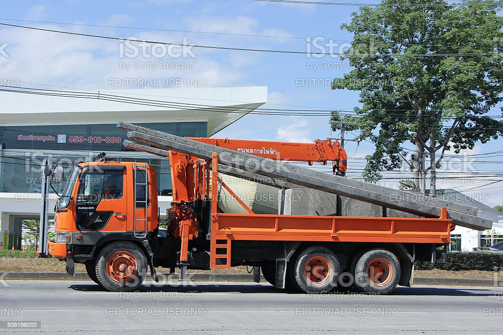Truck with Crane of Khun Phon SG stock photo