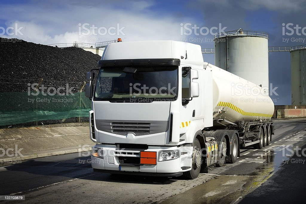 truck with fuel tank royalty-free stock photo