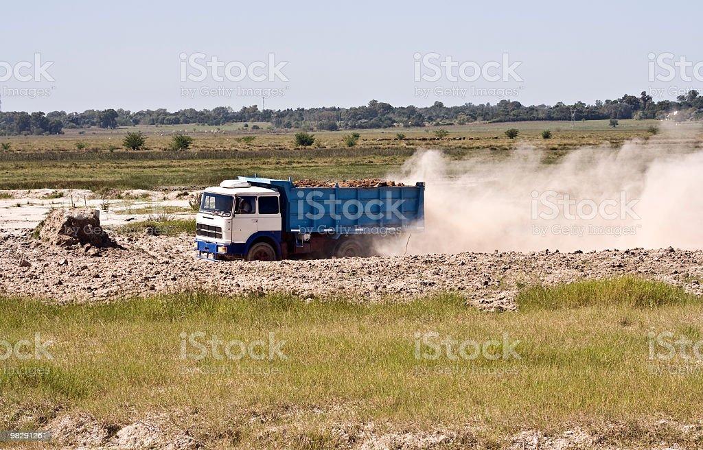 Truck  working stock photo