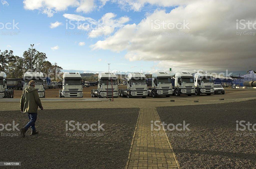 Truck Yard royalty-free stock photo