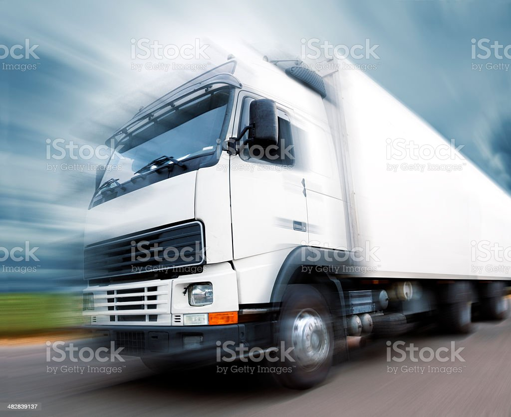 Truckand speed stock photo