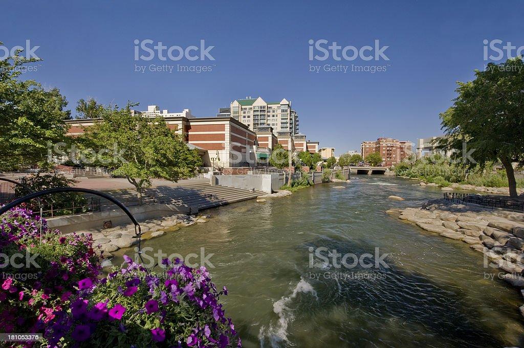 Truckee River, Reno, Nevada stock photo