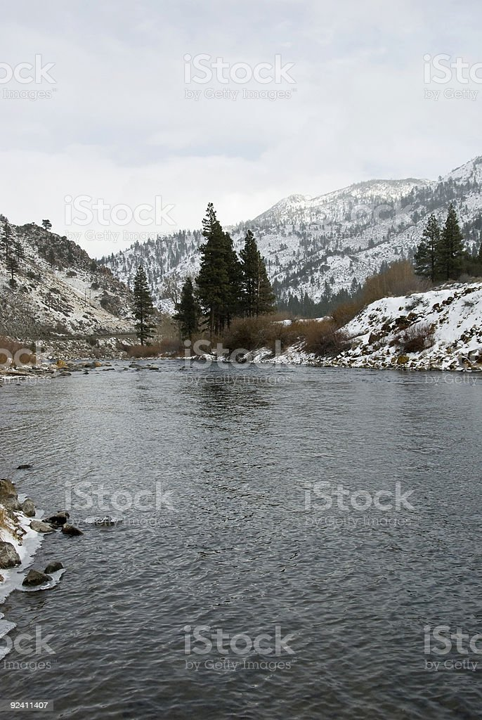 Truckee River-Mountains stock photo