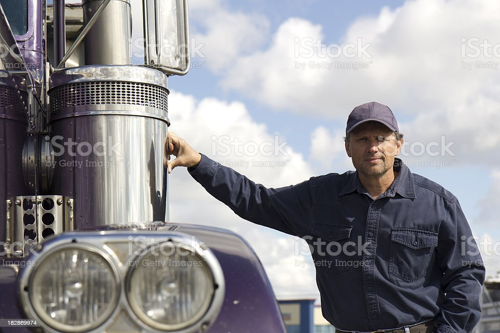 Trucker and Chrome royalty-free stock photo