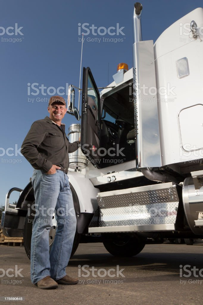 Trucker at a Truckstop royalty-free stock photo