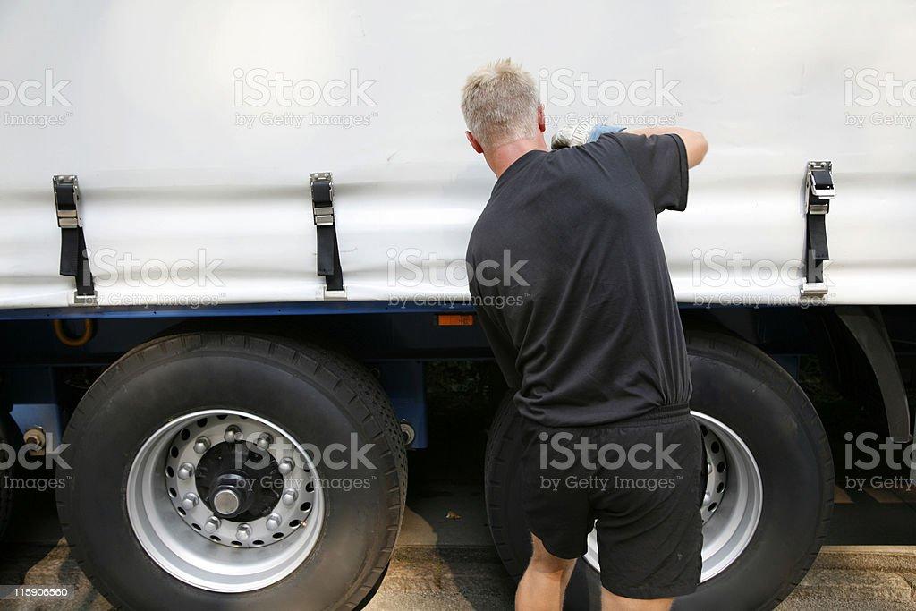 Trucker royalty-free stock photo