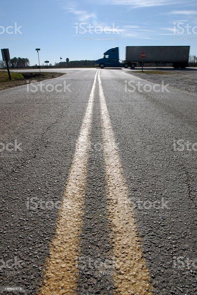 Trucker's Highway 2 royalty-free stock photo