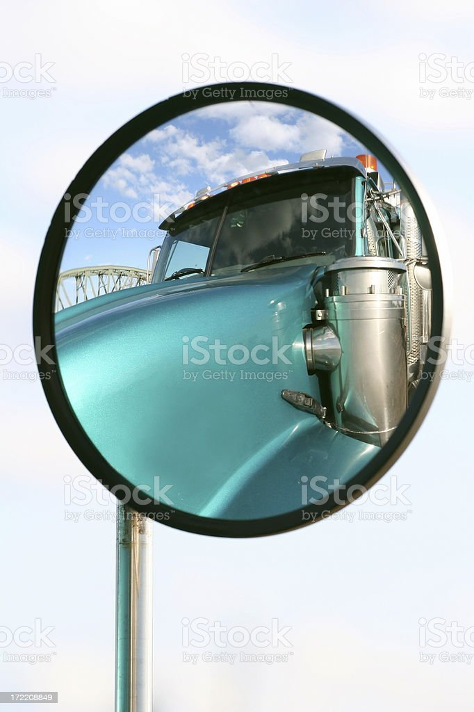 Truckers Mirror royalty-free stock photo