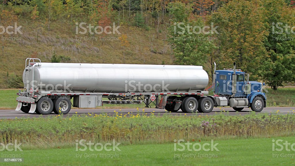 Trucking Diesel Fuel stock photo