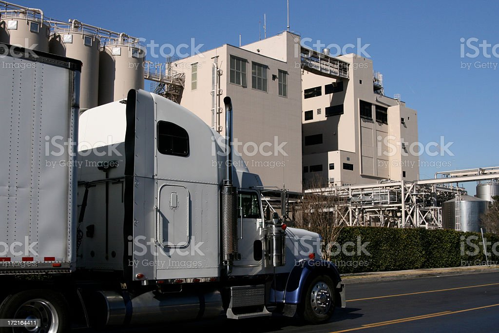 Trucking Factory Transportations Freight Transportation Industry royalty-free stock photo