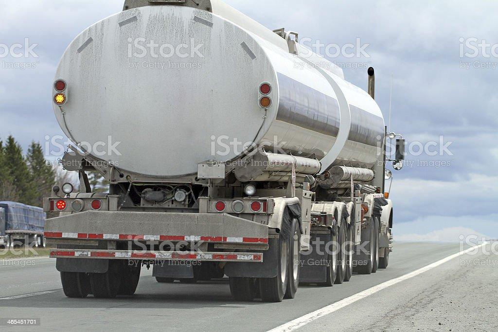 Trucking Gasoline royalty-free stock photo