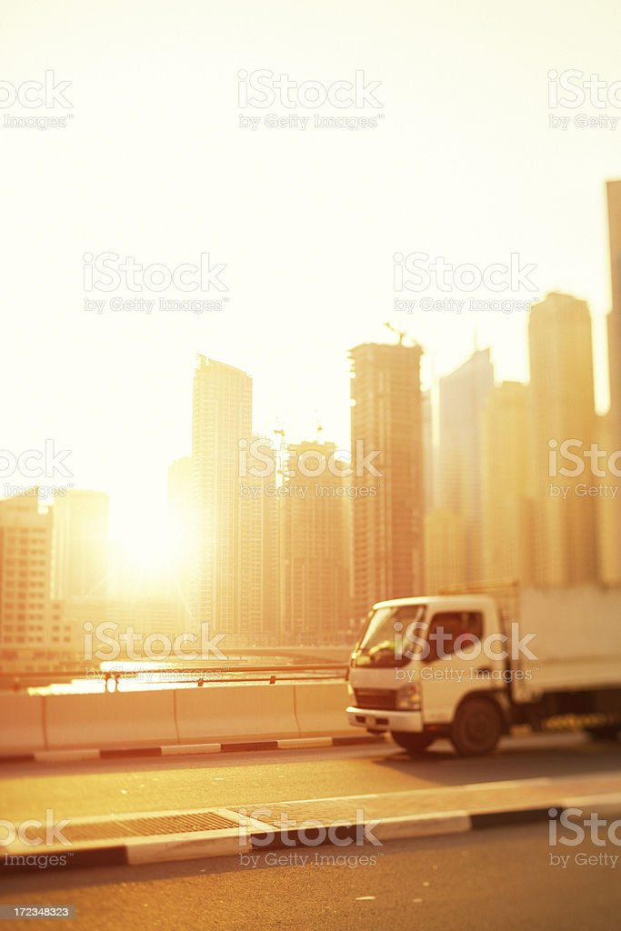 Trucking in the city royalty-free stock photo