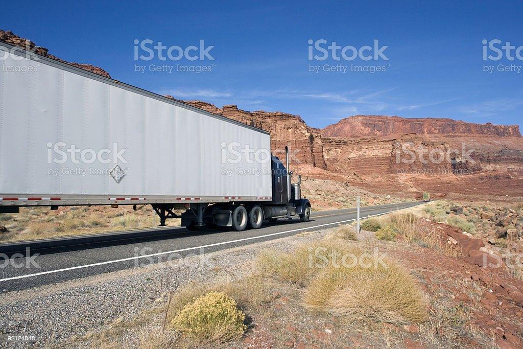 Trucking in Utah royalty-free stock photo