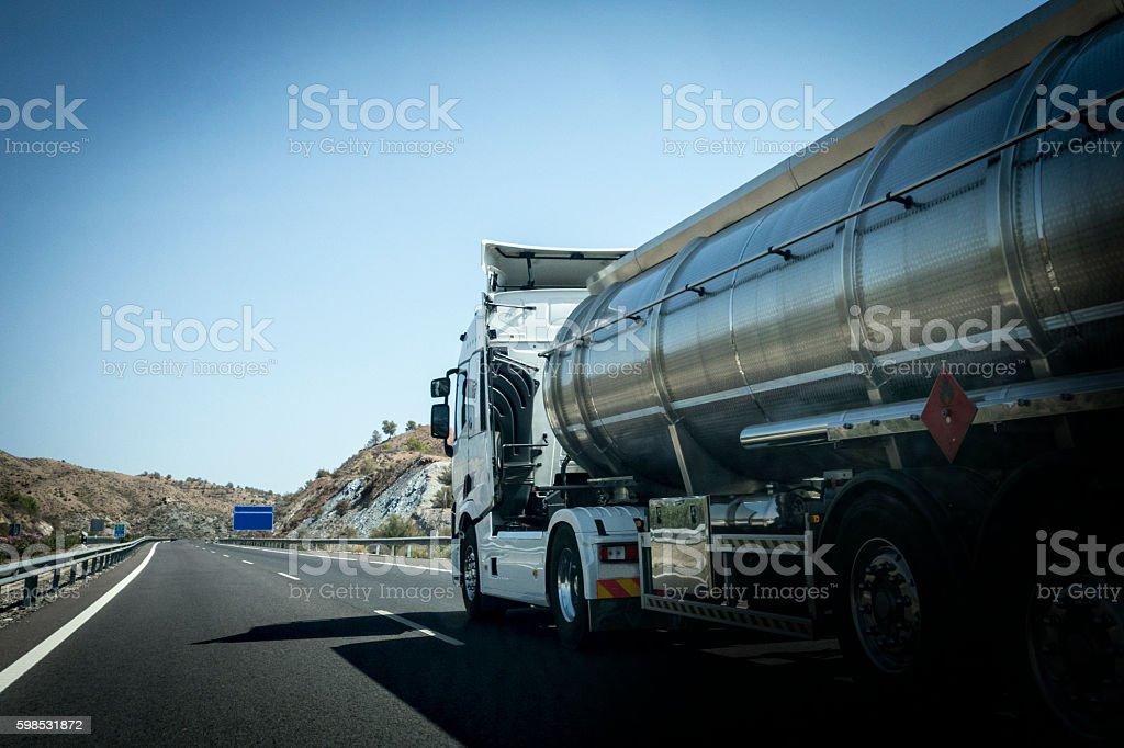 Trucking stock photo