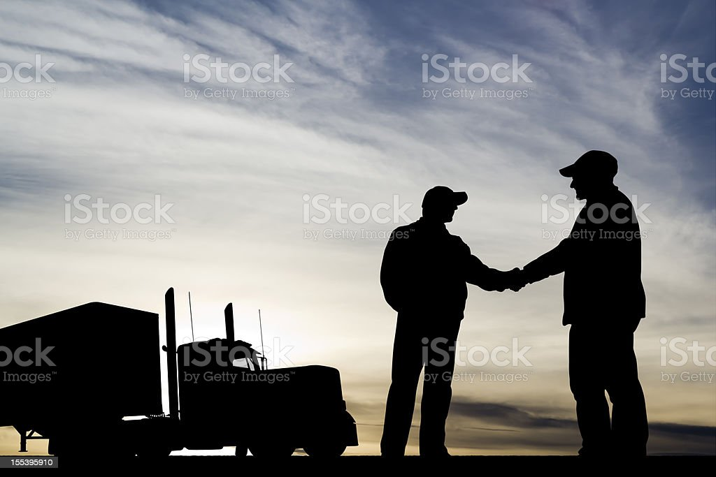 Trucking Success stock photo