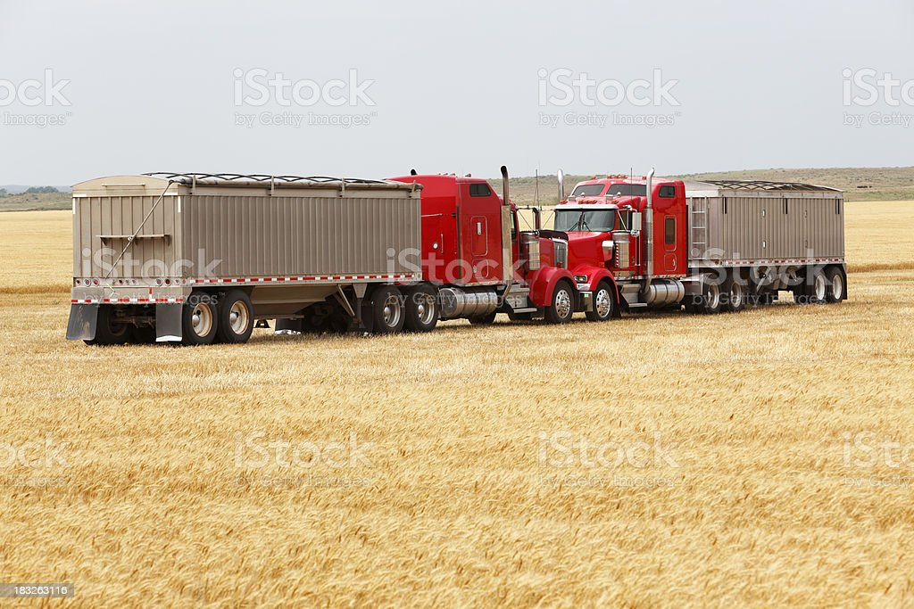 Trucking tete-a-tete stock photo