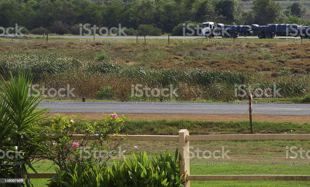 Trucking with movement blur stock photo