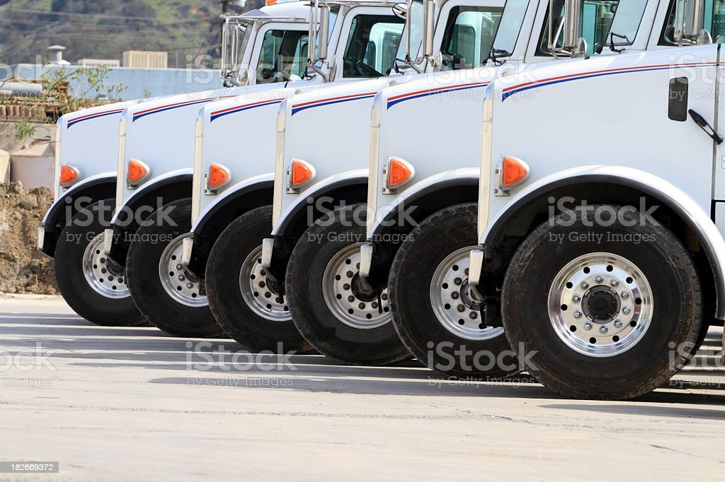 Trucks Lined Up stock photo