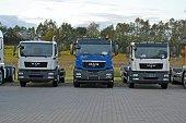 MAN trucks on the parking