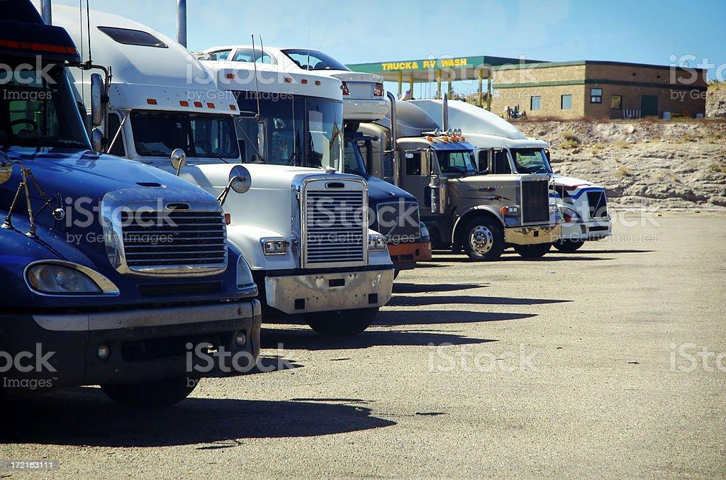 Truck's parking - 2 stock photo