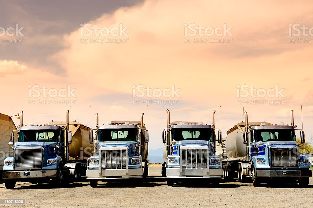 Trucks, Route 66, California, USA stock photo