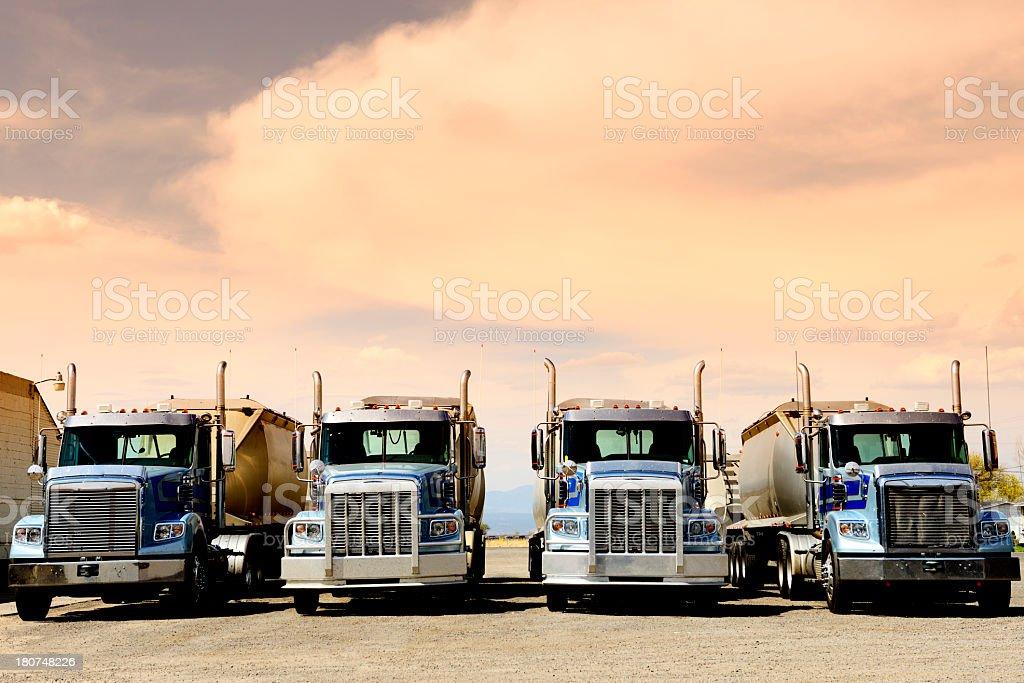 Trucks, Route 66, California, USA stock photo