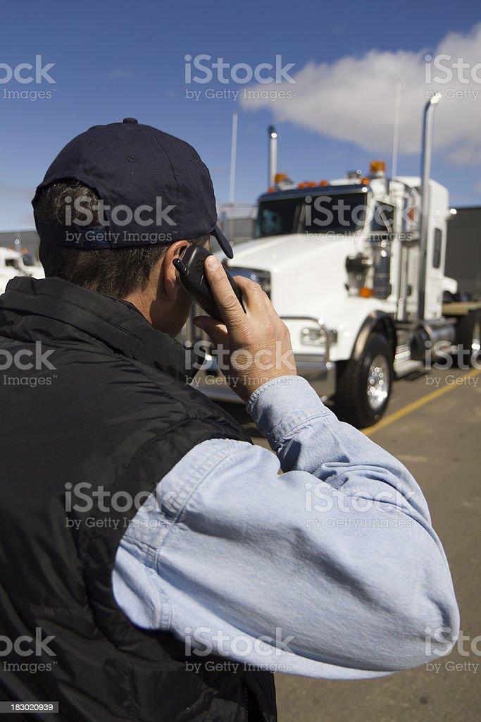 Truckstop Call stock photo