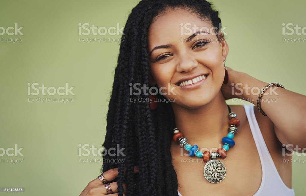 True beauty is being confident in who you are stock photo